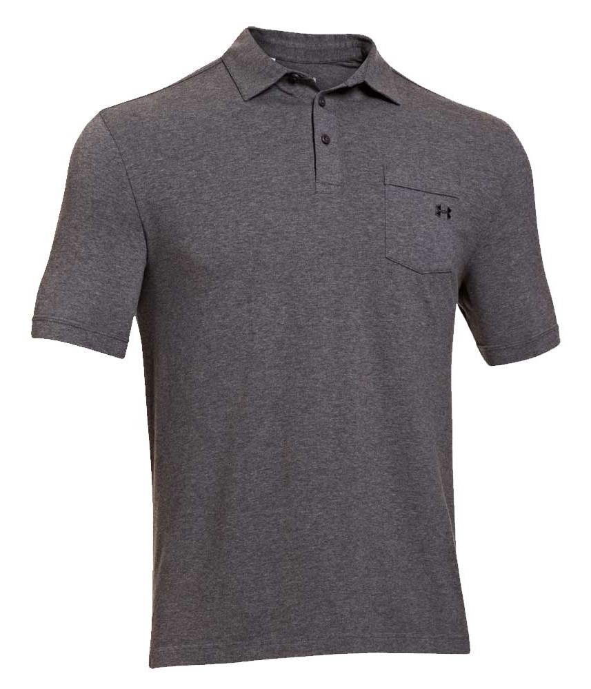 Under Armour Mens Charged Cotton Pocket Polo Shirt 2014