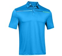 Under Armour Mens ColdBlack Chest Stripe Polo Shirt 2014 (Electric Blue)