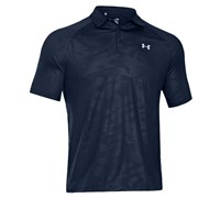 Under Armour Mens ColdBlack Embossed Polo Shirt 2014 (Black/Steel)