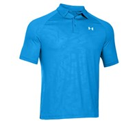 Under Armour Mens ColdBlack Embossed Polo Shirt 2014 (Electric Blue/White)