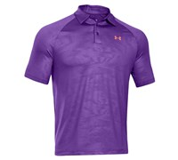 Under Armour Mens ColdBlack Embossed Polo Shirt 2014 (Purple)