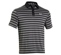 Under Armour Mens ColdBlack Tonal Fade Stripe Polo Shirt 2014 (Black/Steel)