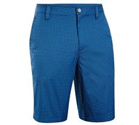 Under Armour Mens Gingham Plaid Golf Shorts (Electric Blue)
