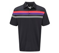 Under Armour Mens Chest Stripe Polo Shirt 2014 (Black/Purple)