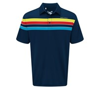 Under Armour Mens Chest Stripe Polo Shirt 2014 (Navy/Yellow)