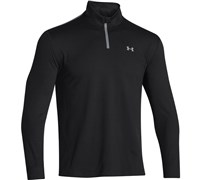 Under Armour Mens ColdGear Infrared Heartbeat 1/2 Zip Pullover 2014 (Black/Steel)