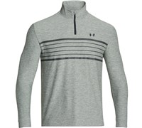 Under Armour Mens ColdGear Infrared Heartbeat 1/2 Zip Pullover 2014 (True Grey Heather/Graphite)