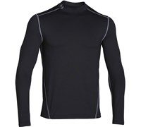 Under Armour Mens ColdGear Evo Fitted Mock Baselayer 2014 (Black/Steel)