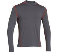 Under Armour Mens ColdGear Evo Fitted Mock Baselayer 2014 (Charcoal/Black)