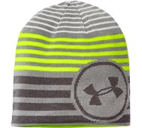 Under Armour Boys Reversible Beanie 2014 (Steel/High-Vis Yellow)