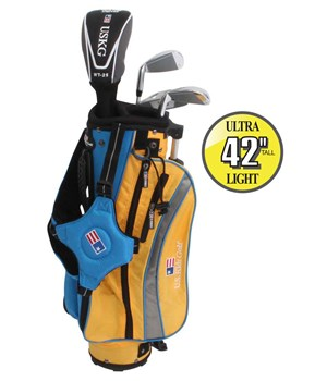 US Kids UL-42 Inch Boys 4-Club Golf Package Set
