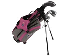 "US Kids UL-42"" Girls Pink 4-Club Golf Package Set"