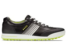 Ecco Mens Hydromax Golf Street Shoes (Black/Lime Punch)