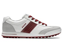 Ecco Mens Hydromax Golf Street Shoes 2013 (Concrete/White/Brick)