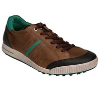 Ecco Golf Mens Limited Edition Street Shoes 2014 (Street Birch/Black/Green)