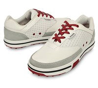 Crocs Mens Drayden 2.0 Golf Shoes (White/True Red)