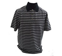 Callaway Golf Mens Tour Inspired Stripe Polo Shirt (Black/White)