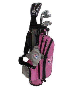US Kids UL-45 Inch Girls Pink 4-Club Golf Package Set