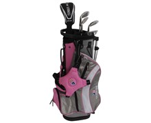 "US Kids UL-48"" Girls Pink 5-Club Golf Package Set"