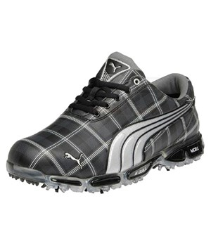 Puma Super Cell Fusion Ice G Golf Shoes (Black Plaid)