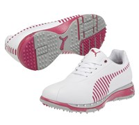 Puma Golf Ladies Faas Grip Golf Shoes (White/Pink)