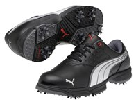 Puma AMP Sport Golf Shoes (Black/Silver/Red) 2013