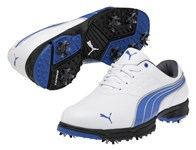 Puma AMP Sport Golf Shoes (White/Blue) 2013