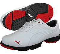 Puma Golf Mens AMP Scramble Golf Shoes (White)