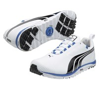 Puma Golf Faas Lite Spikeless Shoes (White/Black/Blue)