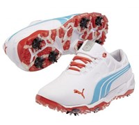 Puma Golf Mens Limited Edition US Open Bio Fusion Golf Shoes 2014 (White/Blue/Red)