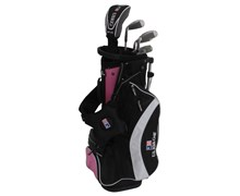 "US Kids UL-51"" Girls Pink 5-Club Golf Package Set"