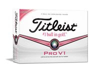 Titleist Pro V1 Limited Edition Golf Balls - Pink Sidestamp (12 Balls) 2013