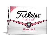 Titleist Pro V1 Limited Edition Golf Balls - Pink Sidestamp 2013  12 Balls