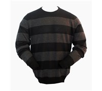 Nike Mens Merino Wool Stripe Crew Sweater (Black/Black)