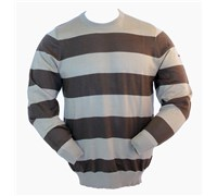 Nike Mens Merino Wool Stripe Crew Sweater (Olive/Khaki)