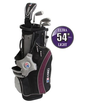 US Kids UL-54 Inch Boys 5-Club Golf Package Set