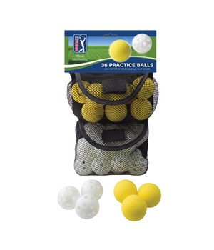 PGA Tour 36 Indoor & Outdoor Golf Practice Balls