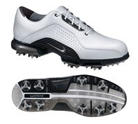 Nike Mens Zoom Advance Premium Golf Shoes (White/Metallic Silver/White)