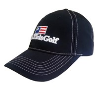 US Kids Junior Pearl Golf Cap (Navy/White)