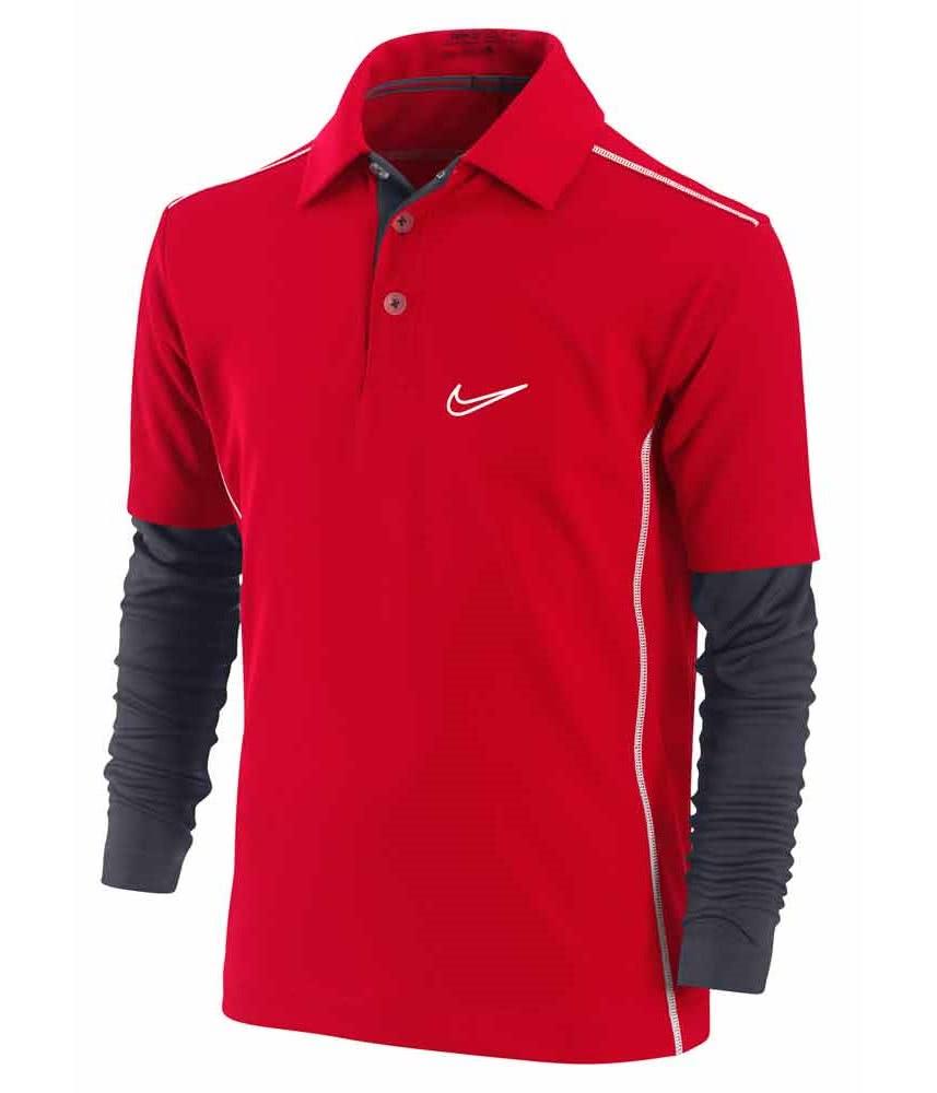 Nike junior dri fit contrast stitch layer polo shirt for No tuck golf shirts