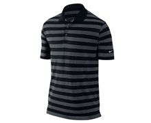Nike Mens Tech Core Stripe Golf Polo Shirt 2013 (Black/White)