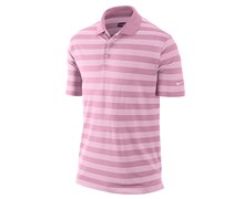 Nike Mens Tech Core Stripe Golf Polo Shirt 2013 (Pink/White)