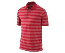 Nike Mens Tech Core Stripe Golf Polo Shirt 2013 (University Red/White)