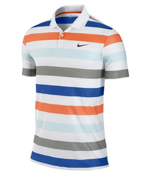 Nike Mens Dri-Fit Sport Stripe Polo Shirt 2012
