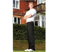 Stromberg Mens Plain Nano Golf Trouser (Black)