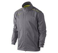 Nike Mens Storm-Fit Rain Jacket (Charcoal/Atomic Green)
