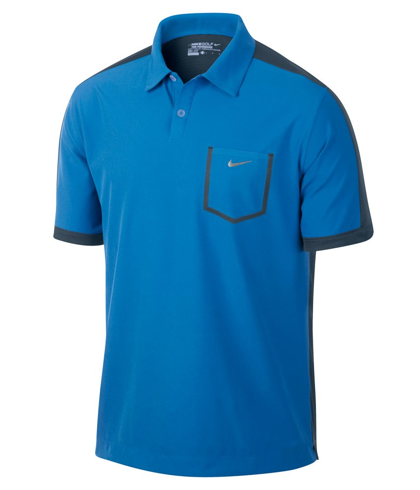 Nike mens light weight color block polo shirt 2013 for Polo color block shirt