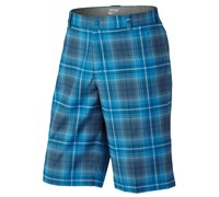 Nike Mens Tartan Golf Shorts 2013 (Blue/Grey)
