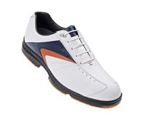 FootJoy Mens AQL Golf Shoes 2013 (White/Navy/Rust)