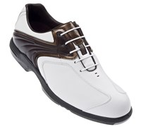 FootJoy AQL Series Golf Shoes (White/Brown/Tan)